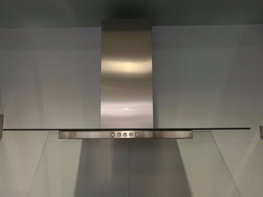 Cappa acciaio inox e vetro elica flat glass ix a 90 e co for Cappa acciaio